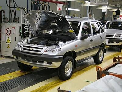 Объем производства внедорожников Chevrolet Niva в прошлом году сократился на 22,2%