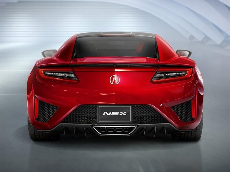 Acura NSX 2015 вид сзади