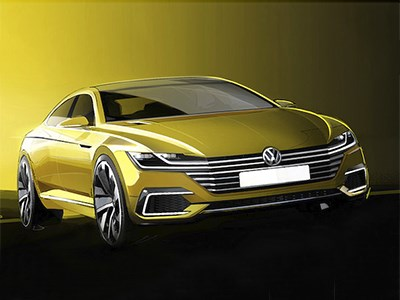 Появились первые изображения нового концепта Volkswagen Sport Coupe Concept GTE