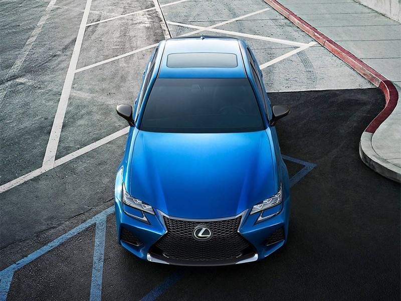 Lexus GS F 2016 вид сверху