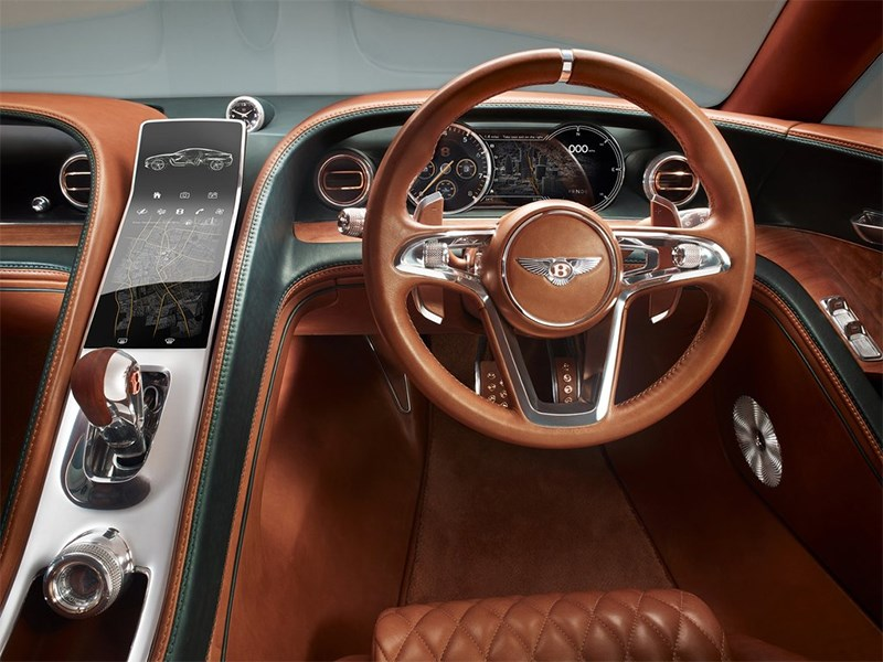 Bentley EXP 10 Speed 6 Concept 2015 водительское место