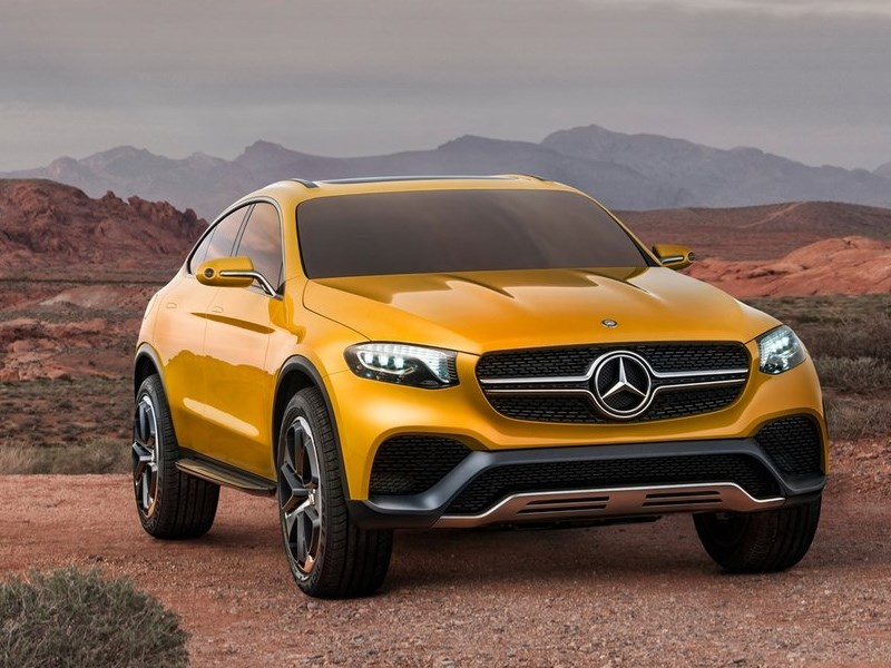 Mercedes-Benz GLC Coupe Concept 2015 вид спереди