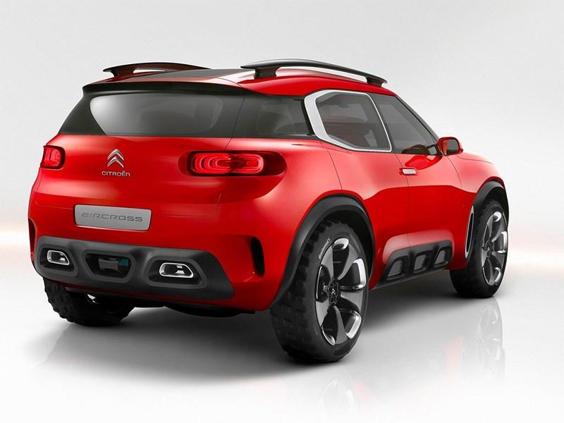 Citroen Aircross Concept 2015 вид сзади
