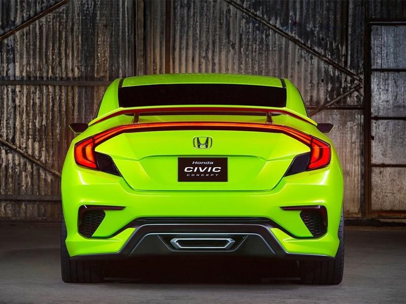 Honda Civic Concept 2015 вид сзади