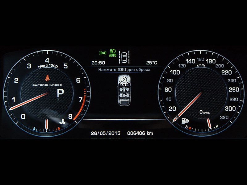 Land Rover Range Rover Sport SVR 2015 приборная панель