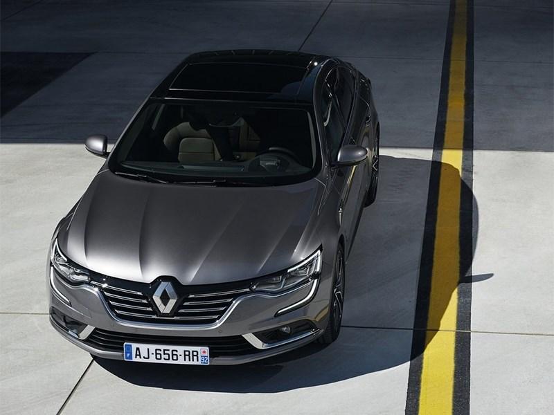 Renault Talisman 2016 вид сверху
