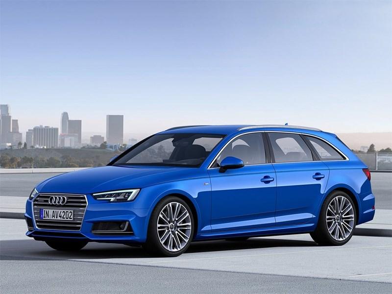Audi A4 Avant 2016 вид спереди