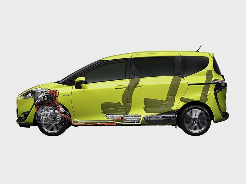 Toyota Sienta 2015 вид сбоку 2