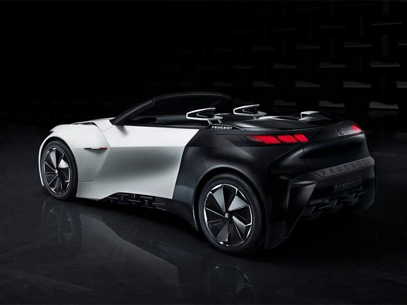 Peugeot Fractal Concept 2015 вид сбоку сзади