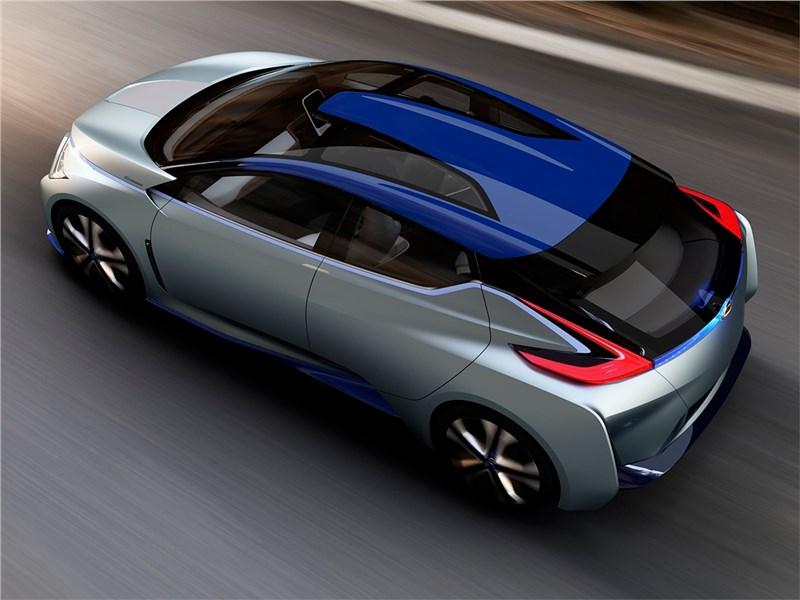 Nissan IDS concept 2015 вид сзади сверху