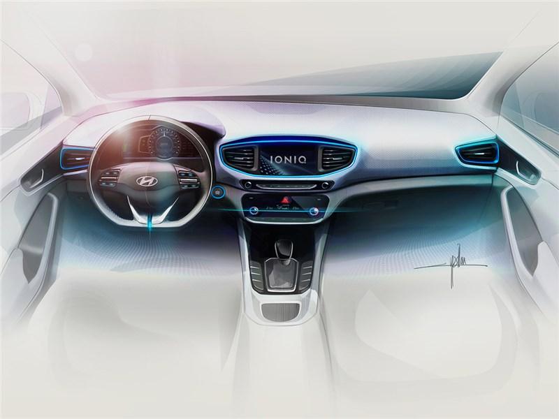 Hyundai Ioniq 2016 эскиз