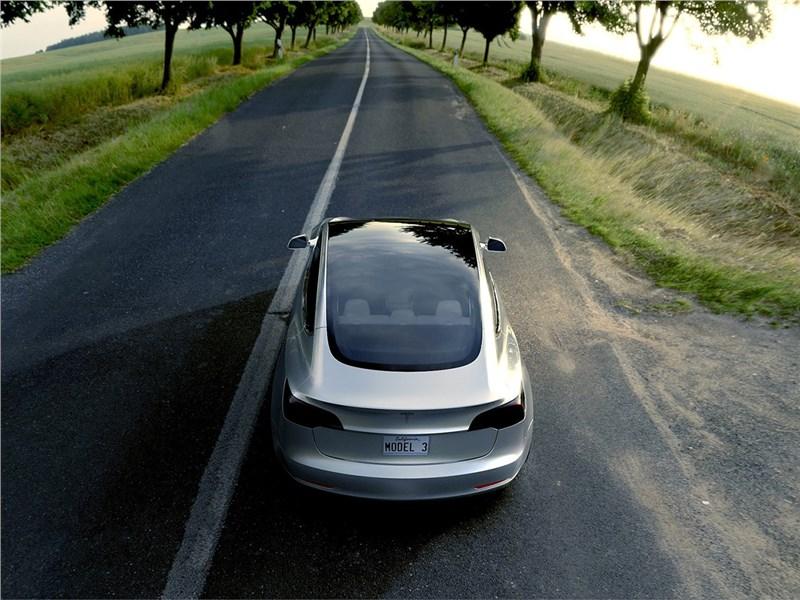 Tesla Model 3 concept 2016 вид сзади