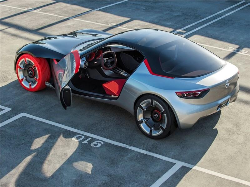 Opel GT concept 2016 вид сбоку сверху