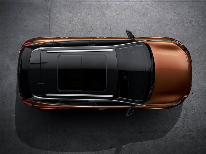 Peugeot 3008 2017 вид сверху