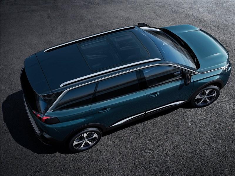 Peugeot 5008 2017 вид сверху