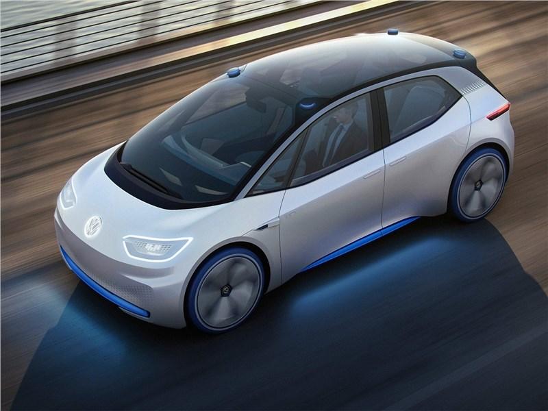 Volkswagen I.D. concept 2016 вид сверху