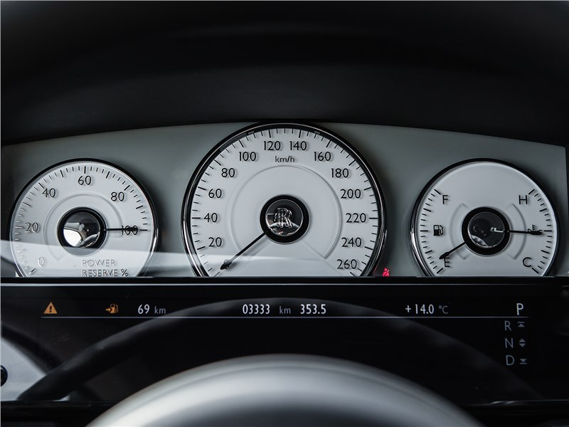 Rolls-Royce Ghost 2015 приборная панель