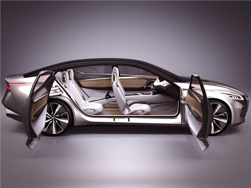 Nissan Vmotion 2.0 Concept 2017 вид сбоку с открытыми дверями