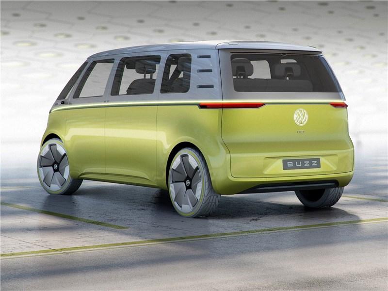 Volkswagen ID Buzz Concept 2017 вид сбоку сзади