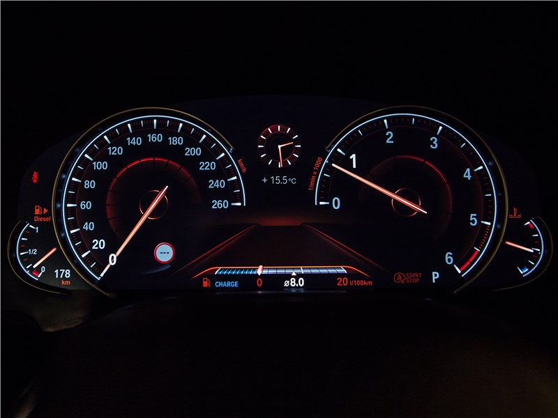 BMW 740Ld xDrive 2016 приборная панель