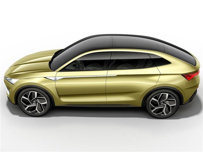 Skoda Vision E Concept 2017 вид сбоку