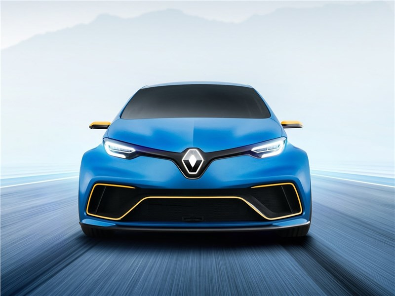 Renault Zoe e-Sport Concept 2017 вид спереди