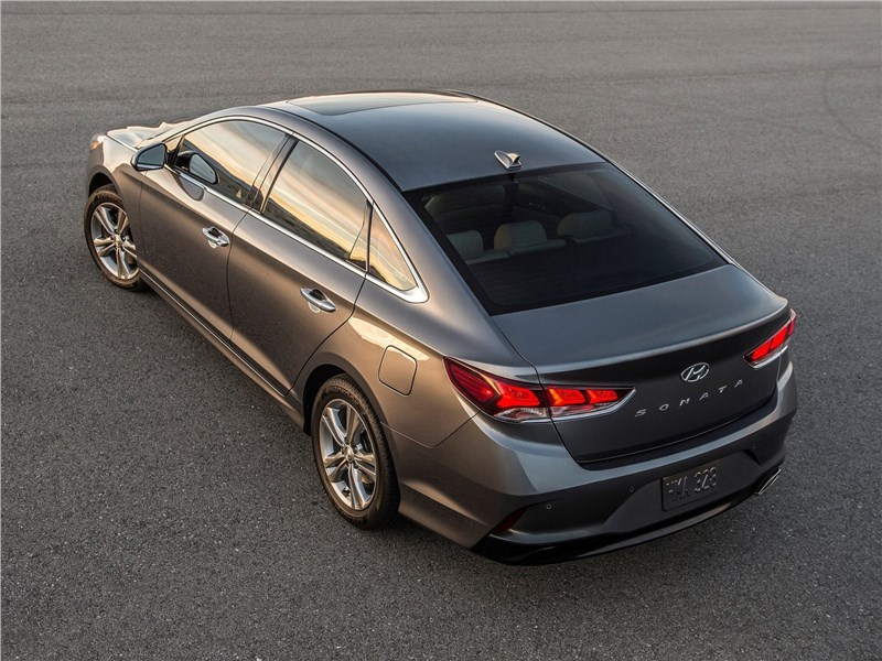 Hyundai Sonata 2018 вид сзади сверху