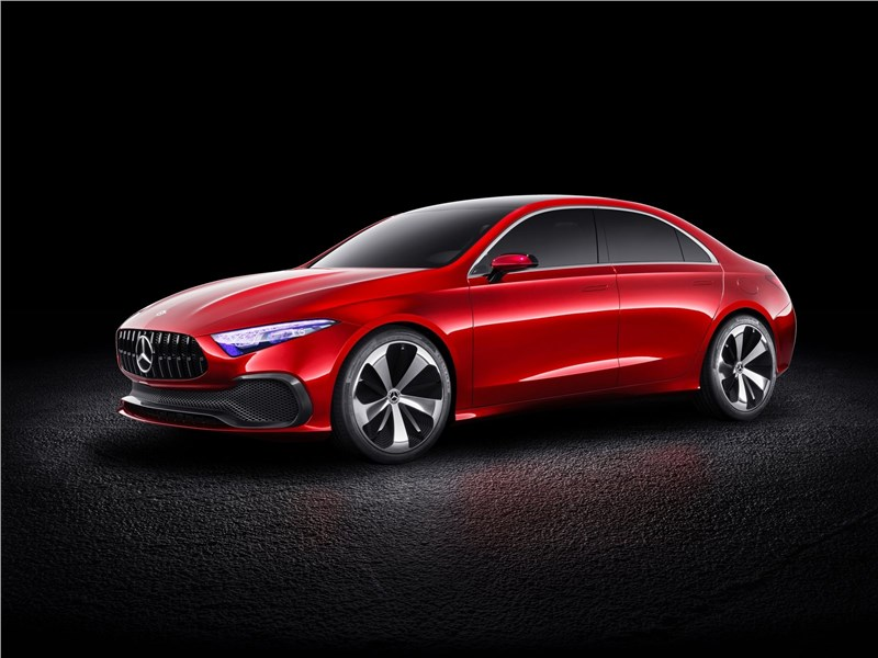 Mercedes-Benz A Sedan Concept 2017 вид спереди сбоку