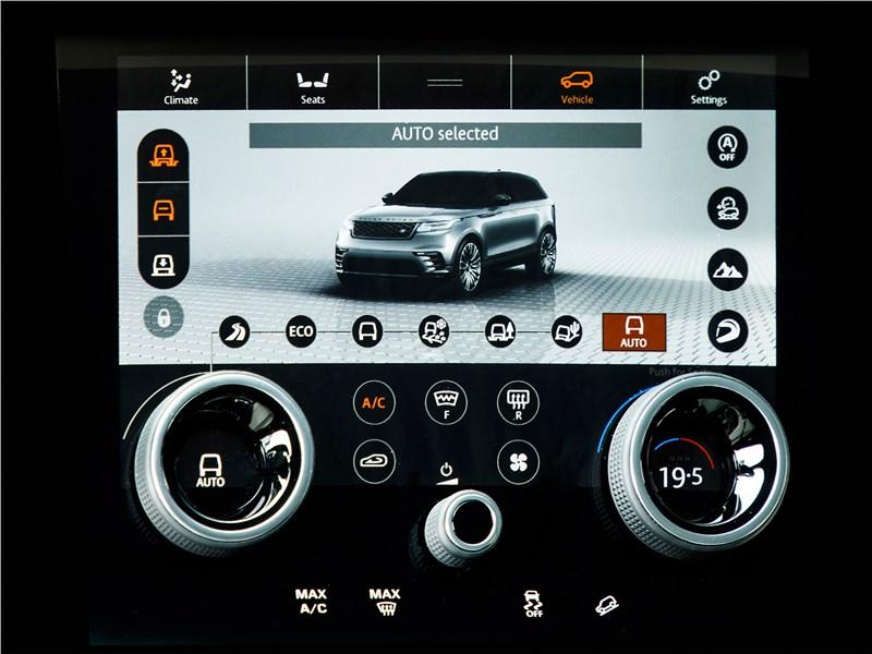 Land Rover Range Rover Velar 2018 виртуальный дисплей