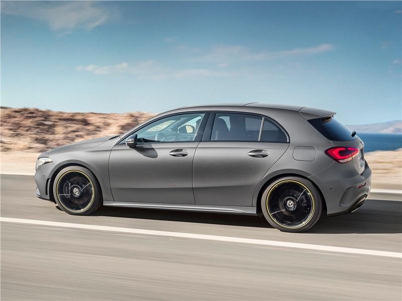 Mercedes-Benz A-Class 2019 вид сбоку сзади
