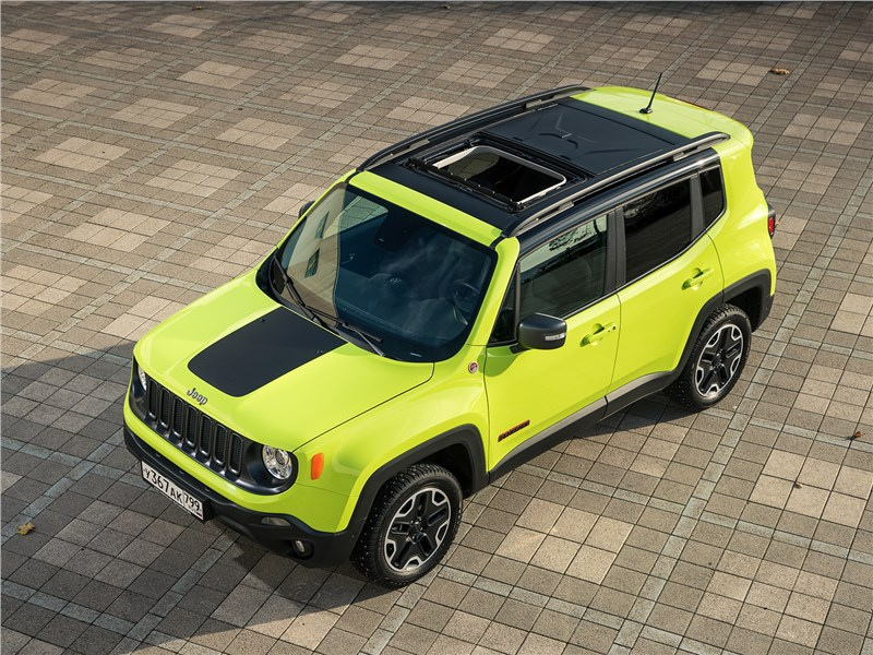 Jeep Renegade Trailhawk 2015 вид сверху
