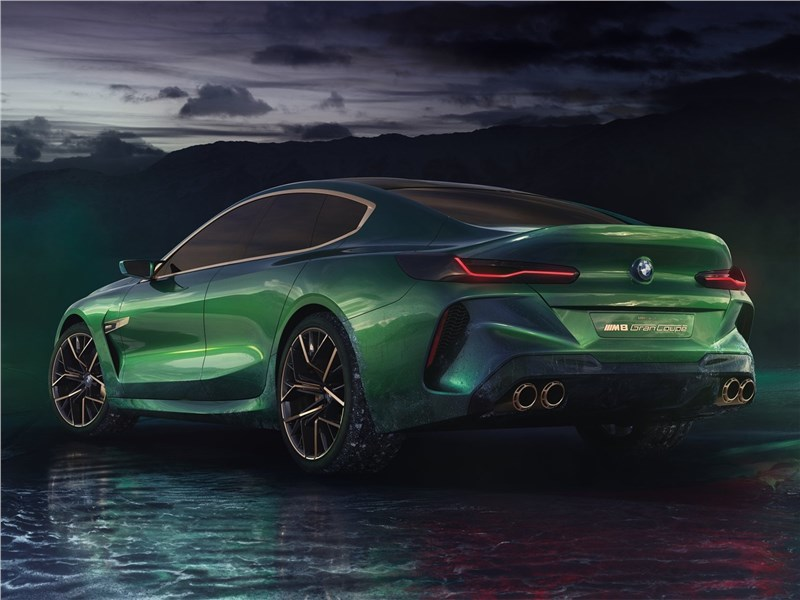 BMW M8 Gran Coupe Concept 2018 вид сзади