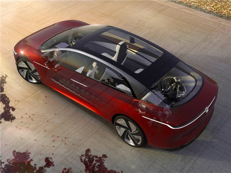 Volkswagen ID Vizzion Concept 2018 вид сбоку сверху