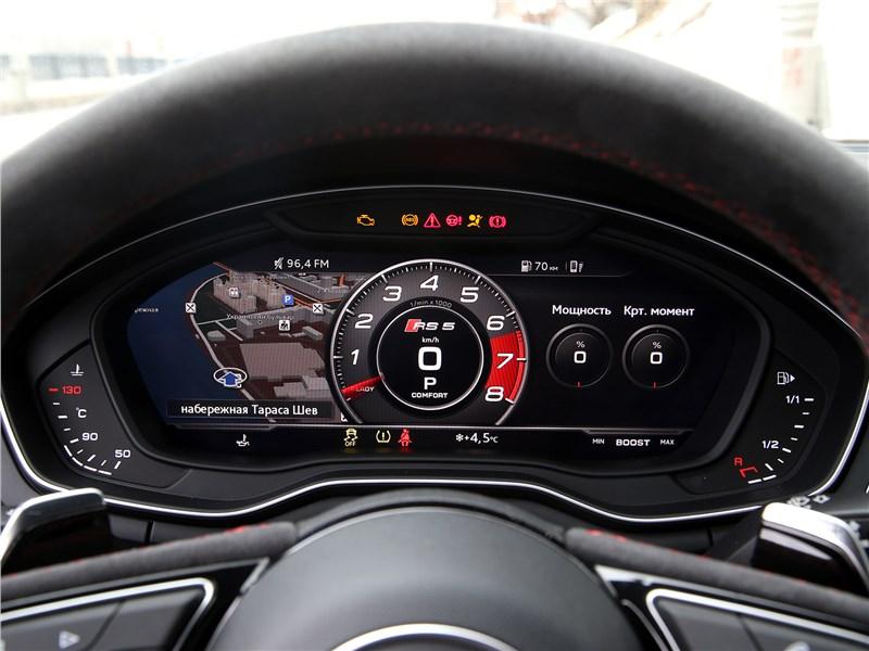 Audi RS5 2018 приборная панель