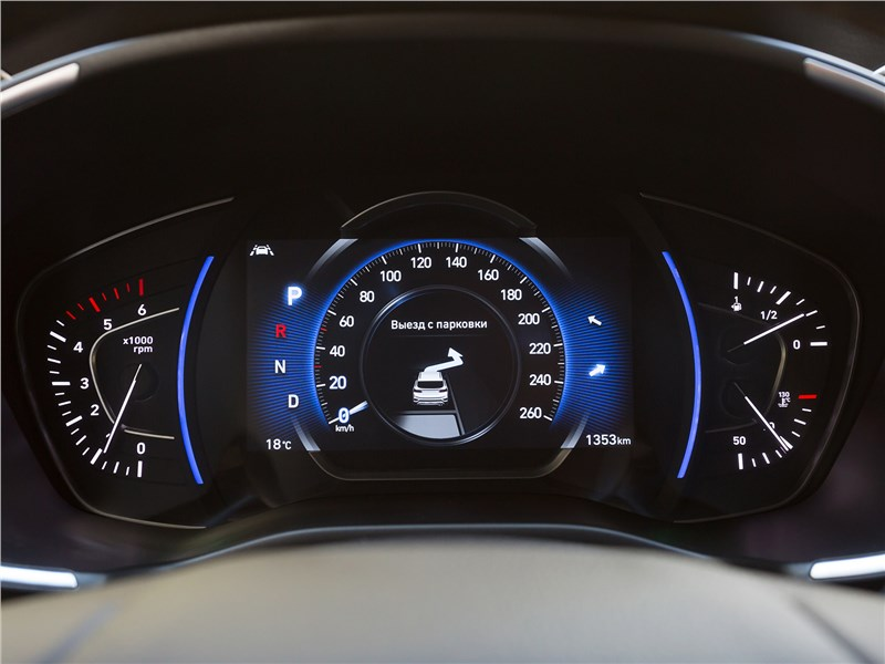 Hyundai Santa Fe 2019 приборная панель