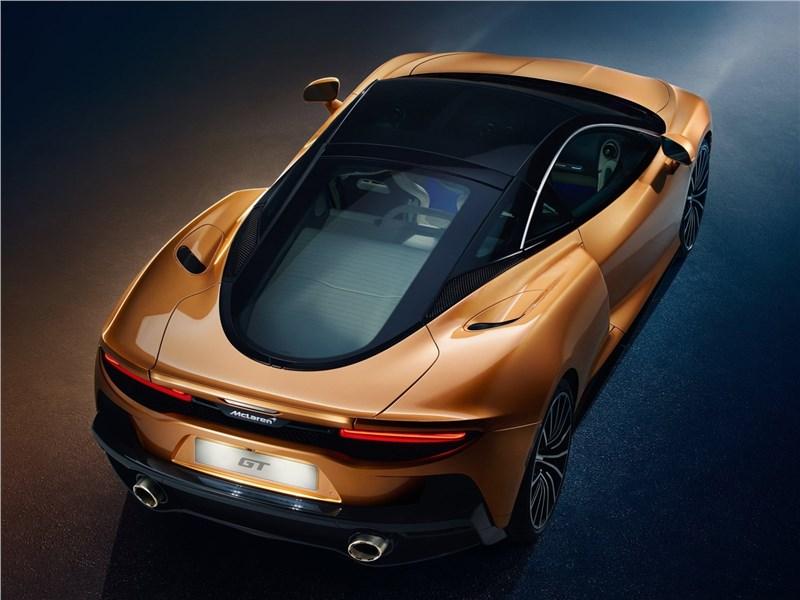 McLaren GT 2020 вид сзади сверху
