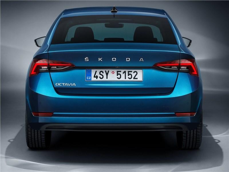 Skoda Octavia 2020 вид сзади