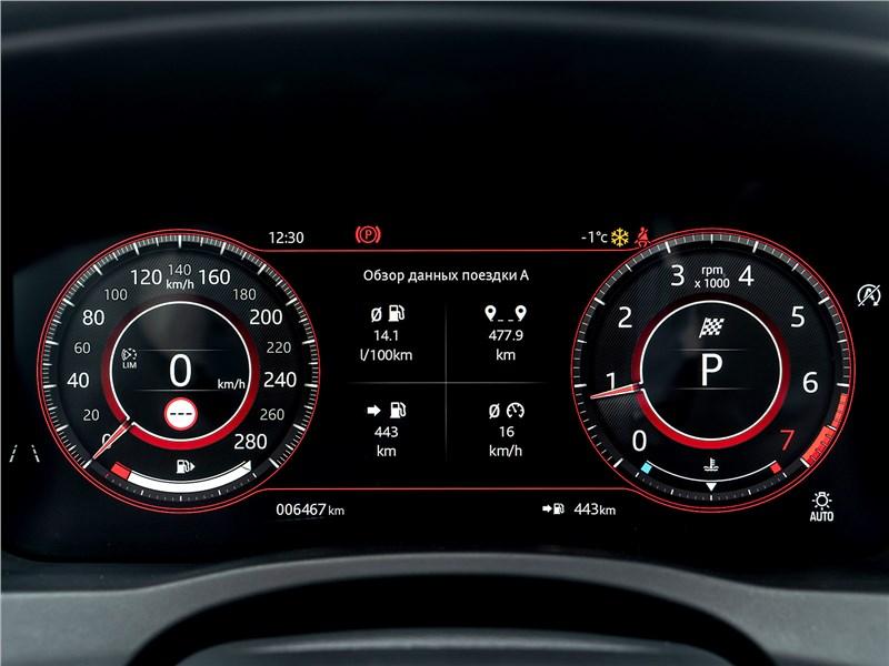 Jaguar XE P250 2020 приборная панель