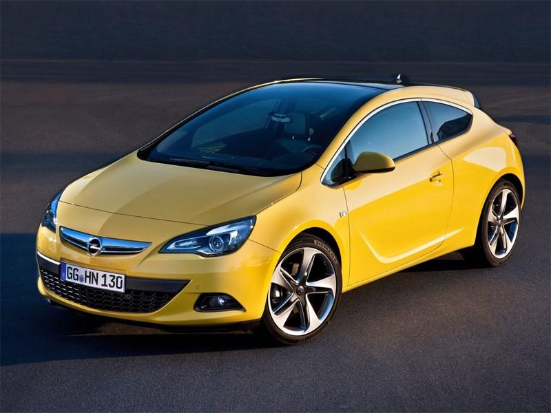 Трехдверное купе Opel Astra GTC оснастят бензиновым турбодвигателем