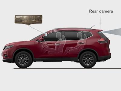 Nissan разработал зеркала заднего вида, превращающиеся в экран камеры обзора