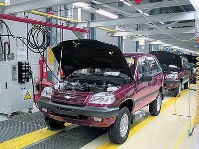 Производство внедорожников Chevrolet Niva на мощностях GM-AVTOVAZ сократилось на 18,5%