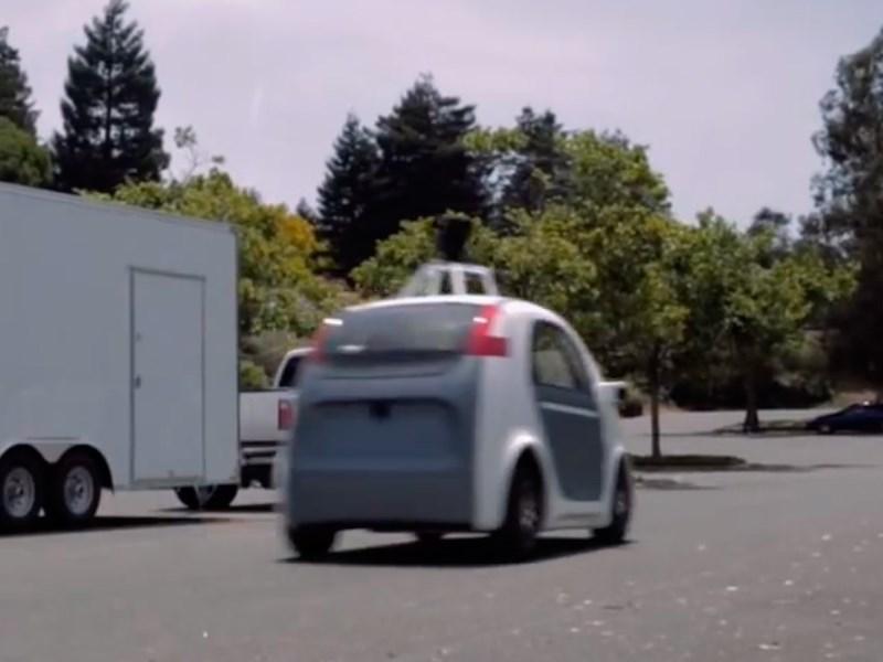 Беспилотник от Google вид сзади