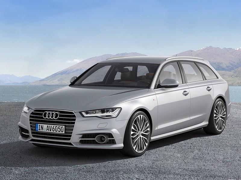 Audi A6 Avant 2015 вид спереди