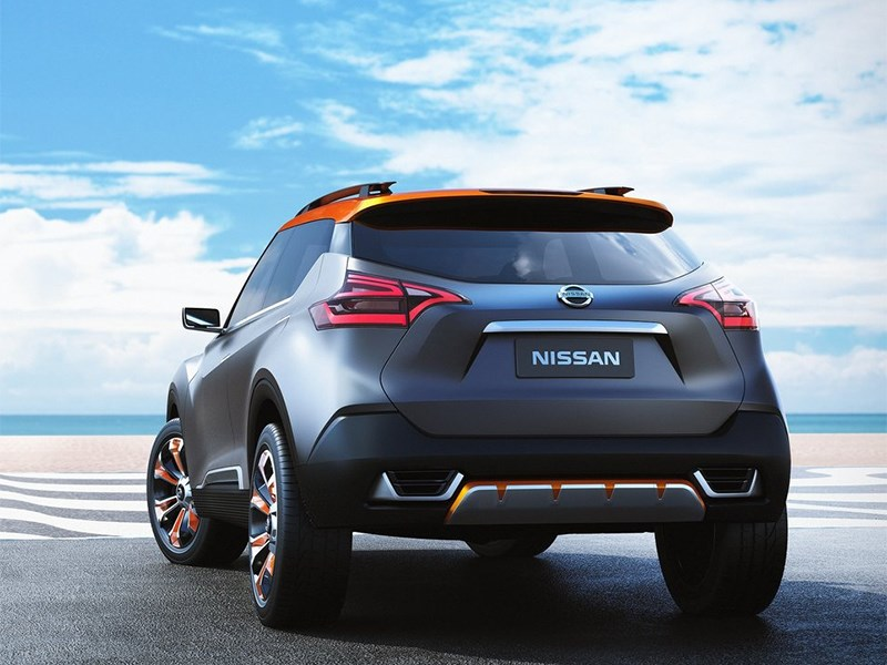 Nissan Kicks concept 2014 вид сзади