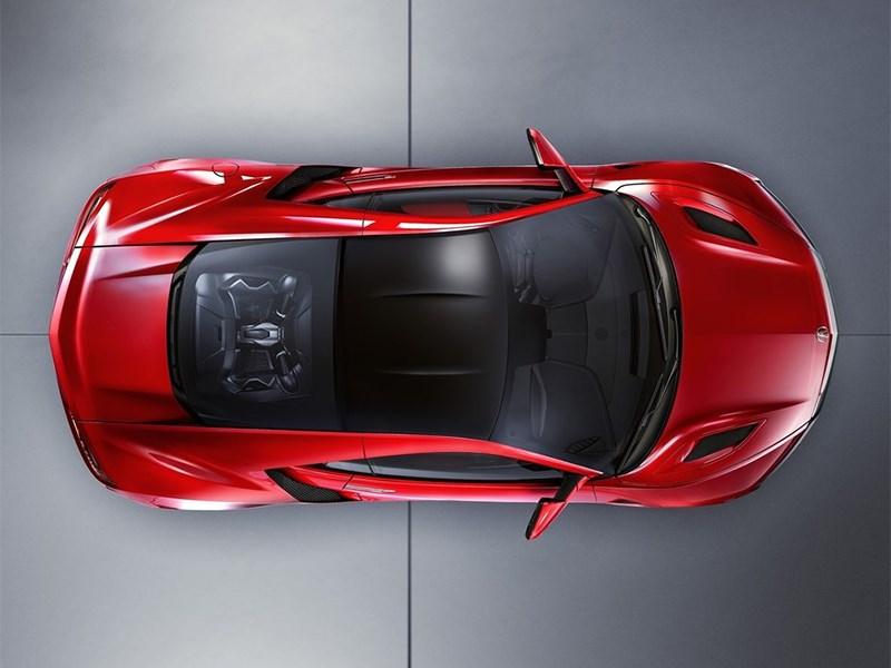 Acura NSX 2015 вид сверху