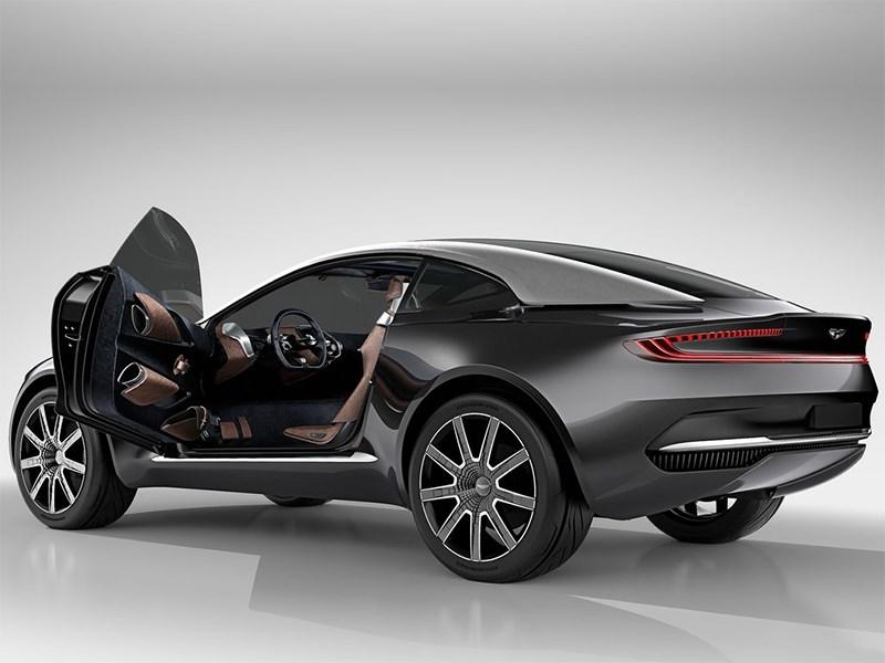 Aston Martin DBX Concept 2015 с открытой дверью