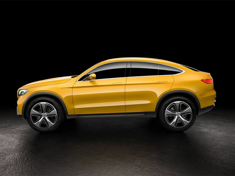 Mercedes-Benz GLC Coupe Concept 2015 вид сбоку