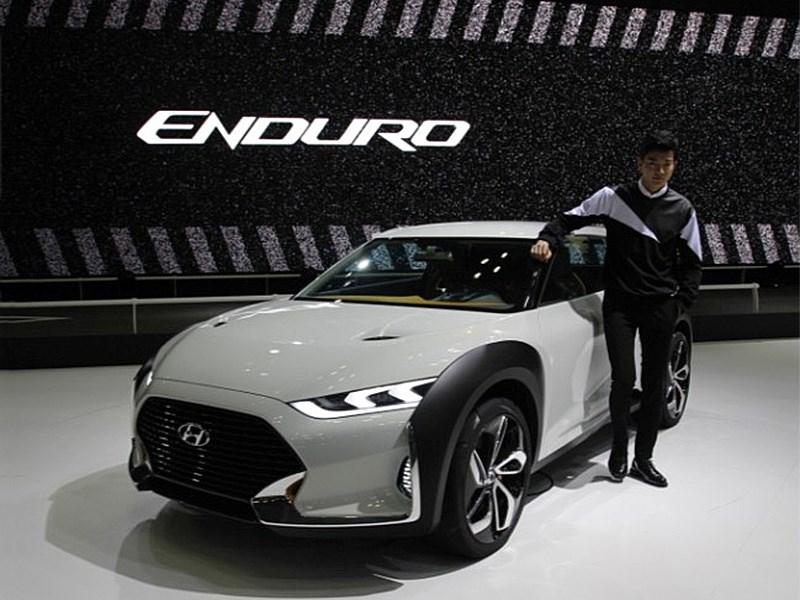 Hyundai Enduro Concept 2015 вид спереди сбоку