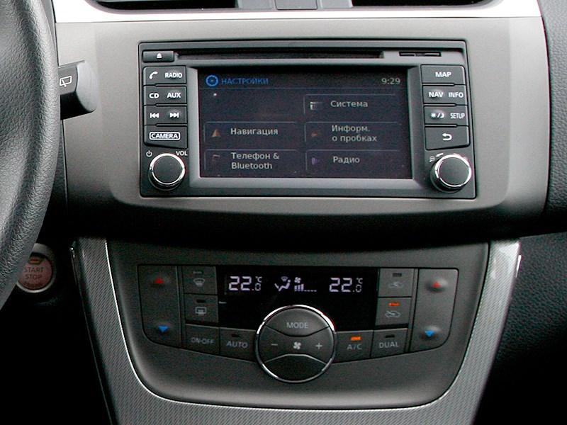 Nissan Tiida 2015 центральная консоль