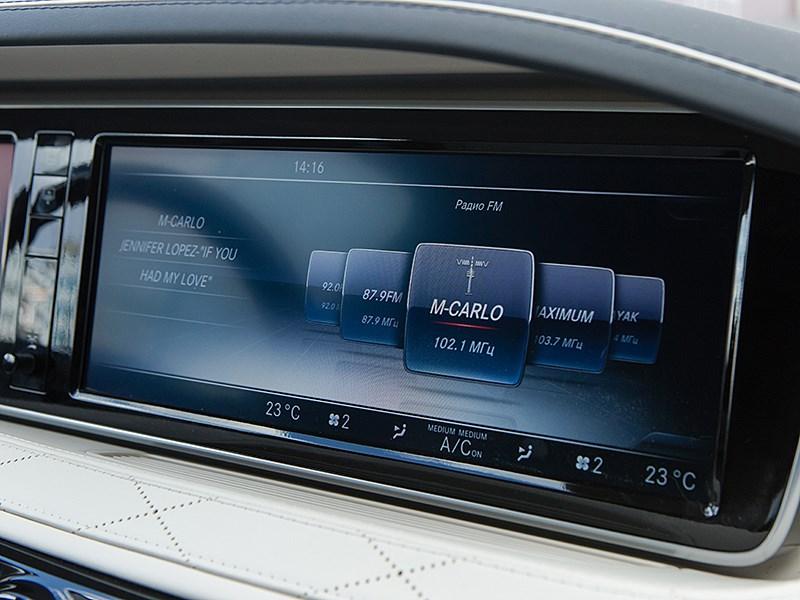 Mercedes-Maybach S 500 2015 монтор компьютера